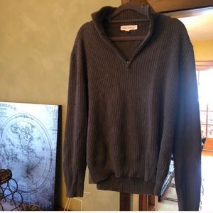 Calvin Klein Ribbed Knit Sweater Zip Up